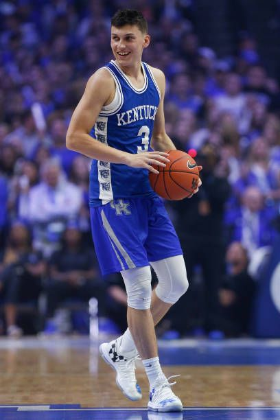 Tyler Herro Of The Kentucky Wildcats Looks On During Big Blue Kentucky Wildcats Kentucky Kentucky Wildcats Basketball