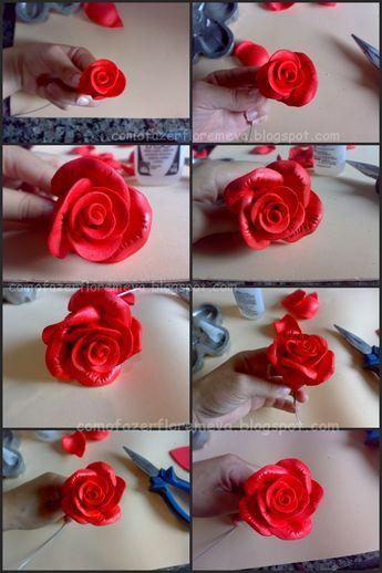 Como Fazer Rosa Em Eva Passo A Passo Flores Em Eva Como Fazer
