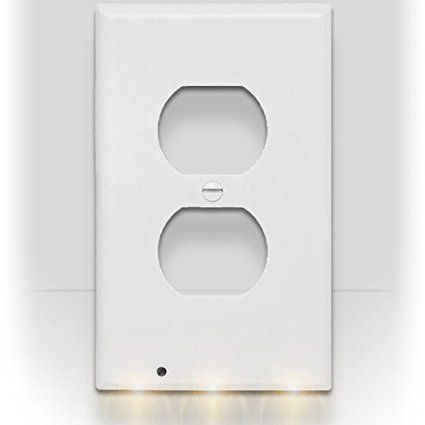 Snappower Guidelight Outlet Coverplate With Led Night Lights Duplex White Led Night Light Outlet Led Night Light Night Light
