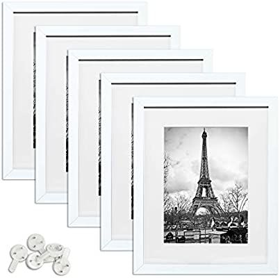Amazon Com Upsimples 11x14 Picture Frame Set Of 5 Display Pictures 8x10 With Mat Or 11x14 Without In 2020 11x14 Picture Frame Picture Frame Sets Multi Photos Frame