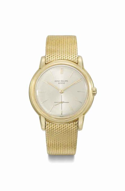 Patek Philippe. A fine 18K gold automatic wristwatch with bracelet. Manufactured in 1961 #ChristiesWatches