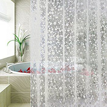 Carttiya Eva Shower Curtain Liner Mildew Resistant Anti Bacterial