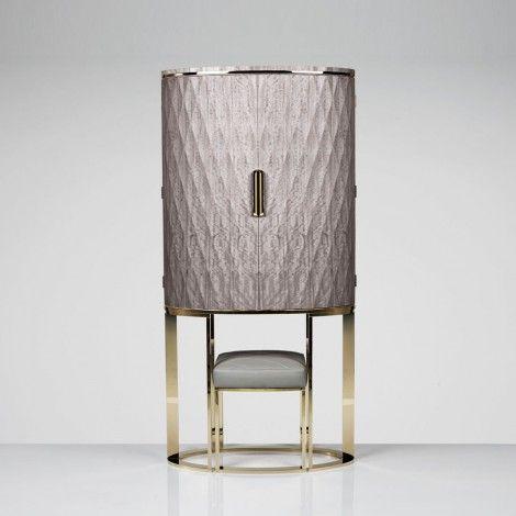 Grace Cabinet. Luxurious purple cabinet. Luxury furniture. Interior design ideas. home decor ideas. Interior design. For more inspirational ideas take a look at: www.bocadolobo.com