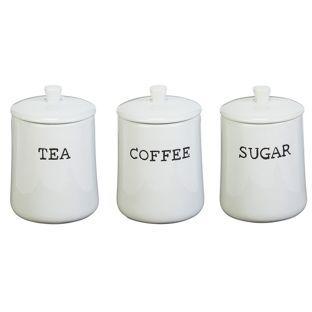 Home New York Set Of 3 Ceramic Storage Jars Jar Storage