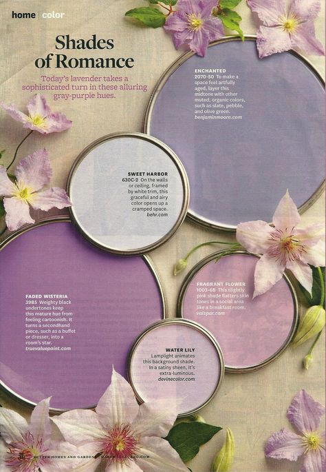 Shades Of Romance Bhg Paint Colors Remodel Bedroom Purple Paint