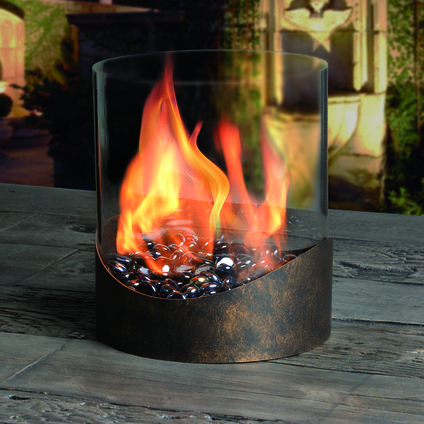 Roxbury Umbrella Hole Firebowl Exclusive Outdoor Living Tabletop Fireplaces Fire Bowls Outdoor Fire