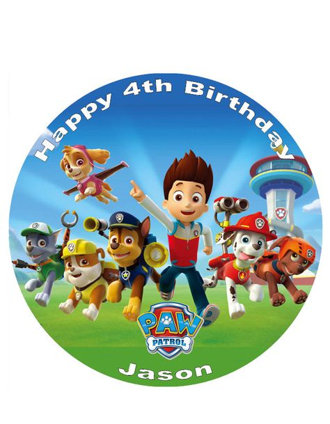 Paw Patrol Personalised Birthday Cake Edible 8