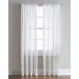 Lyric Antique White Sheer Ogee Print Curtain Panel Colorful Curtains Sheer Curtain Panels Curtains
