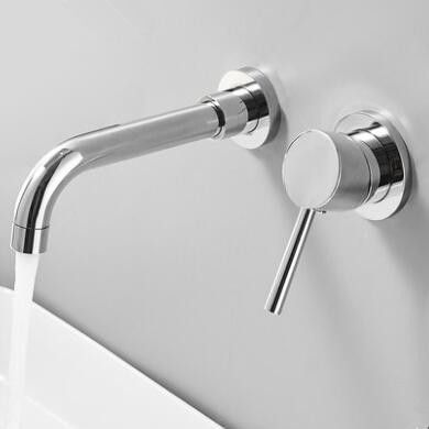 Brass Concealed Installation Chrome Wall Mounted Bathroom Sink Tap T0235c Bathr Wall Mounted Bathroom Sinks Wall Mount Faucet Bathroom Sink Bathroom Sink Taps