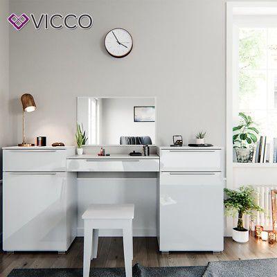 Vicco Frisiertisch Lilli Weiss Hochglanz Schminktisch Mit Spiegel