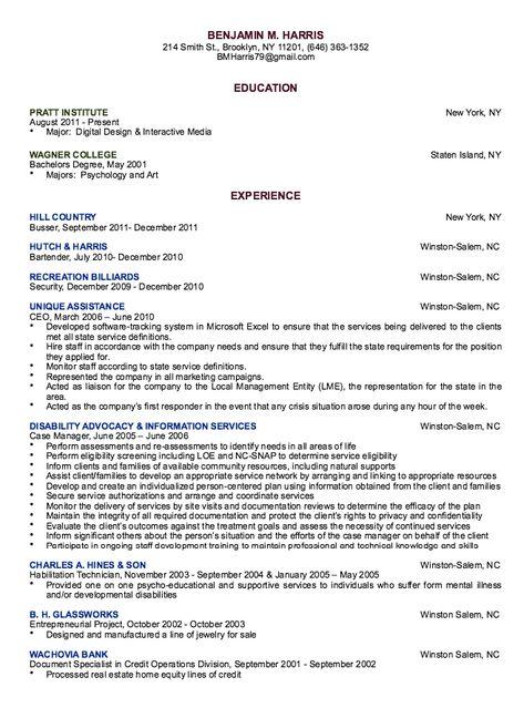 Auto Body Technician Resume Sample - http\/\/resumesdesign\/auto - resume for bartender
