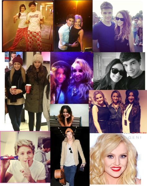 """""""One Direction ft Eleanor Calder, Danielle Peazer and Perrie Edwards."""" by danalalalala ❤ liked on Polyvore"""