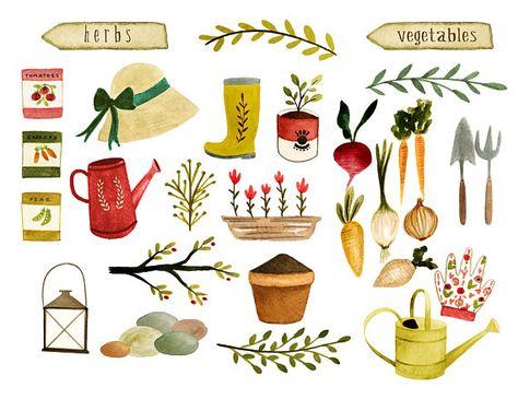 Clipart Jardinage Legumes Clipart Clipart Ferme Aquarelle