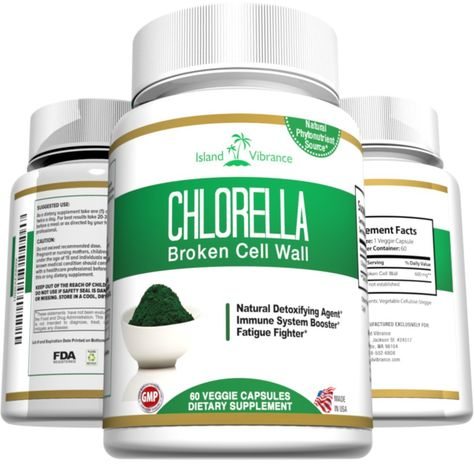 Chlorella Broken Cell Wall Algae Powder Capsules Potent All Natural Green Superfood Supplement For Detox And Cle Superfood Supplements Chlorella Colon Health
