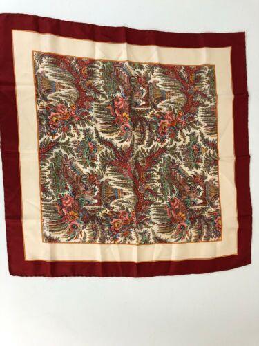 25e32003491e0 LIBERTY OF LONDON Vintage Silk Scarf In A Multi-Color Asian Theme ...