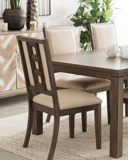 Navy And Gold Dining Room, Five Piece Contemporary 82 Dining Set In Dark Brown Dining Dining Set Dining Room Furniture