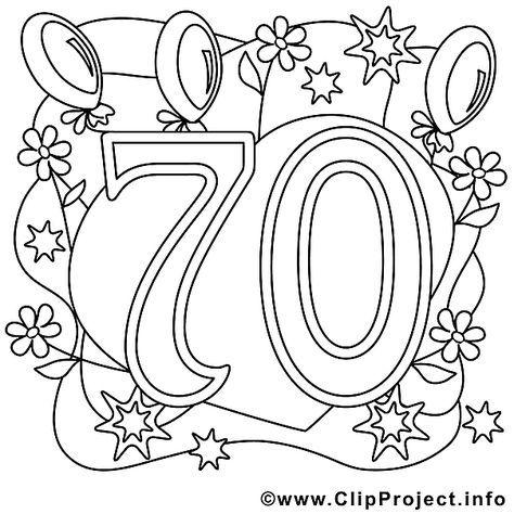 Ausmalbild Zum 70 Geburtstag Geburtstag Malvorlagen 70 Geburtstag Geschenk Geschenke Zum 70