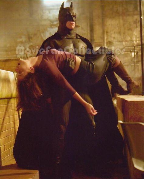 Batman Begins 8x10 Color Photo Christian Bale, Katie Holmes