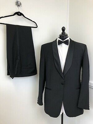 Ad Ebay Url Austin Reed Mens Black Tie Dinner Suit 2 Piece Wool Formal Tuxedo Size 40 Chest