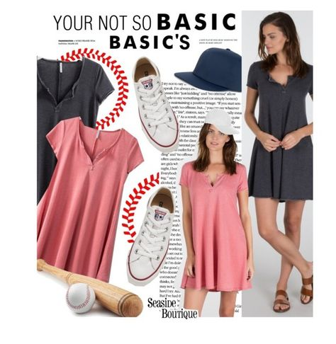 """Your Not So Basic Basic's"" by seaside-boutique ❤ liked on Polyvore featuring Herschel Supply Co., Converse, OLYMPIA Activewear, women's clothing, women's fashion, women, female, woman, misses and juniors"
