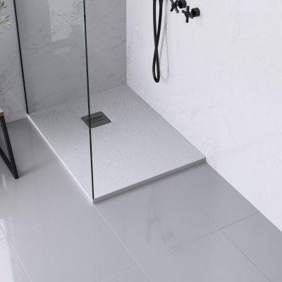 Piatto Doccia Ultrasottile Resina Sintetica E Polvere Di Marmo Remix 70 X 90 Cm Bianco Prezzo Online Leroy Merlin Nel 2020 Doccia Arredo Bagno Moderno Marmo