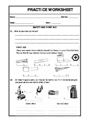 Worksheet Of Safety And First Aid Safety Habits And First Aid Safety General Awareness Safety And First Aid First Aid For Kids 1st Grade Reading Worksheets