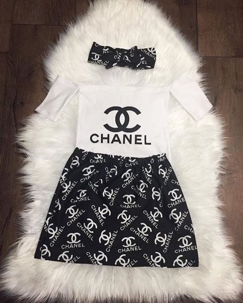 Chanel Inspired Baby and toddler girl outfit