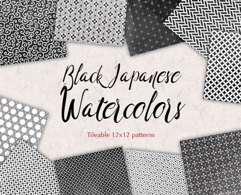 Black Japan Watercolor Paper By All Is Full Of Love On