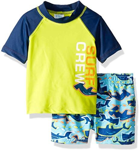 Kiko & Max Boys Set with Short Sleeve Rashguard Swim Shirt ...