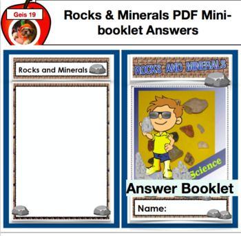 Rocks And Minerals Mini Booklet Answer Key Pdf Version Booklet Rock Science Rocks Minerals