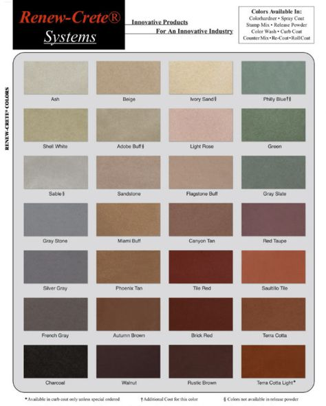 Beautiful integral concrete coloring options available from Renew ...