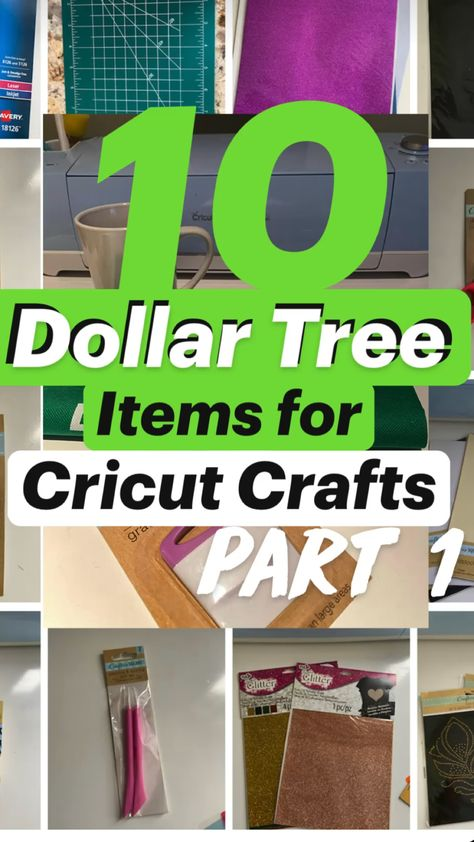 10 Dollar Tree Items for Cricut Crafts