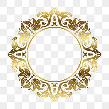 Circulo De Moldura De Ornamento Decorativo Com Cor Dourada Real Grafico Enfeite Imagem Png E Psd Para Download Gratuito Ornament Frame Flower Frame Vintage Photo Frames