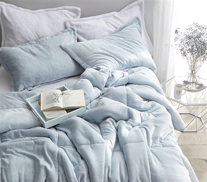 Coma Inducer Twin Xl Comforter Frosted Pacific Blue New Room
