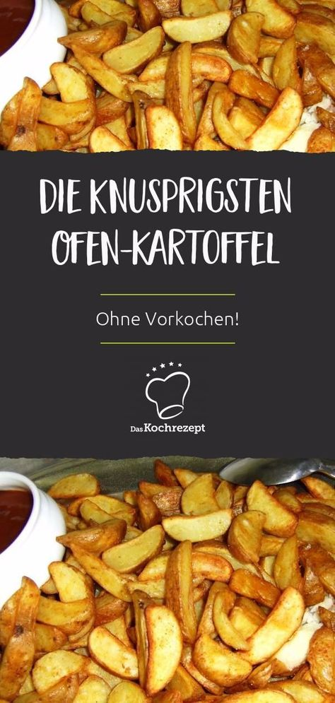 Country-Kartoffeln mit Dip sind die KNUSPRIGSTEN Ofen-Kartoffeln, die du je gemacht hast und das ganz ohne Vorkochen! Schmecken pur oder als Beilage – da könnten wir uns reinlegen. ##kartoffeln #wedges #snack #fries #herzhaft #dip #fingerfood