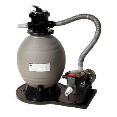 22 In Sand Filter System With 1 1 2 Hp Pump For Above Ground Pools Above Ground Pool Pumps Pool Sand Above Ground Pool