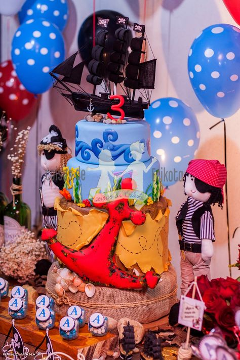 #pirateparty #festapirata #coisasdeerikota #piratescake #cakedesing