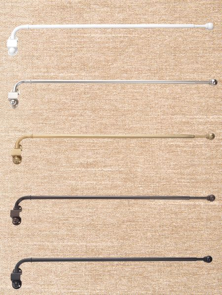Adjustable Swing Arm Curtain Rod Set 1 2 Diameter Curtain Rods