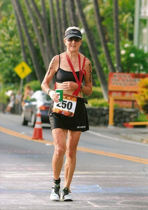 No Excuses: Harriet Anderson, 74. Competed in Ironman World 18 times. In 2009, got clipped from behind on her bike, fell and broke her clavicle. She taped her arm to her waist, walked the marathon portion and still finished in time. It doesn't get any more ba than that.