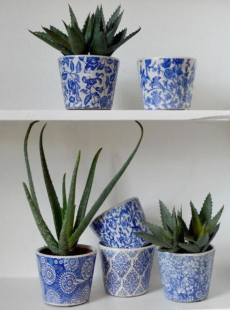 Buy Old Delft Styled Glazed Pots The Worm That Turned Revitalising Your Outdoor Space Delft White Flower Pot Kitchen Plants