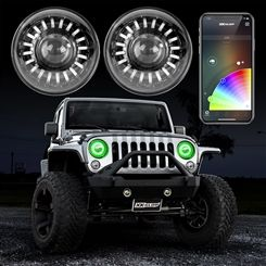 Xkglow Rgb Xkchrome App Controlled Jeep Wrangler Jk 7in Ultra