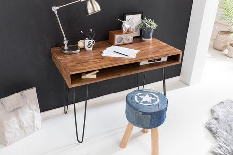Schreibtisch Gudbjerg (60x120, 3 Schubladen, weiß) Pinterest