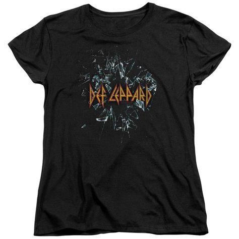 Women Exclusive DEF LEPPARD T-Shirt, Broken Glass - S