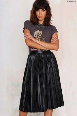 Faldas Negras De Vestir En 2019 Falda Midi Plisada Faldas