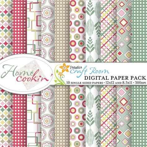 12x12 Paper Sublimation Pattern Instant Digital Download Printable Scrapbook Paper Digital Paper Pack In Primary Colors