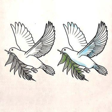 Nice Dove Hope Tattoo Design Traditional Tattoo Hope Tattoo Animal Tattoos