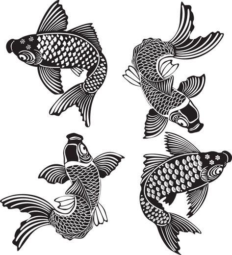 List of Pinterest peces koi tatuajes blanco y negro images & peces ...