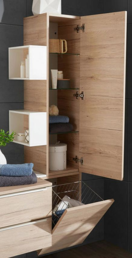 Hochschrank 43 163 1 33 Cm Wooden Bathroom Bathroom Furniture