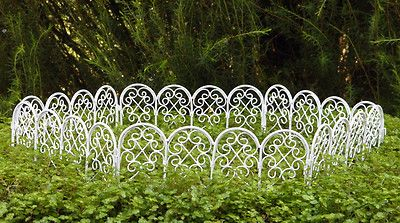 Miniature Dollhouse FAIRY GARDEN Furniture ~ White Wire Fence ~ NEW
