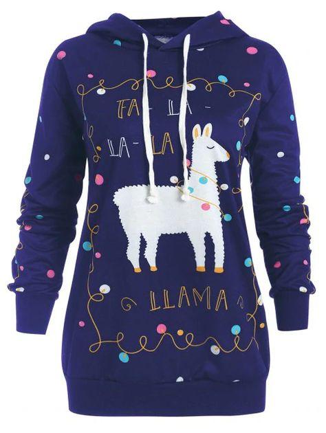 4fa5dd5d57 Plus Size Christmas Pony Pattern Polka Dot Hoodie  hoodies  christmas   polkadot  plussize